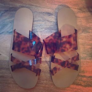 J Crew tortoise slide/sandals